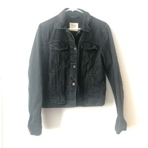 Abercrombie & Fitch Distressed Cropped Jean Jacket